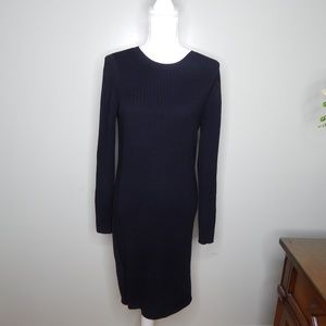 everlane women black  sweater dress SZ L